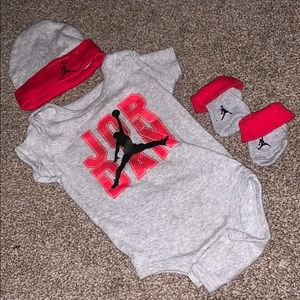 3 piece Nike Jordan onesie set